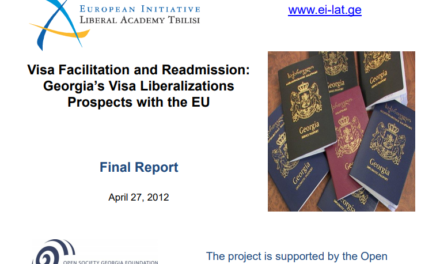Visa Facilitation and Readmission: Georgia's Visa Liberalizations Prospects with the EU