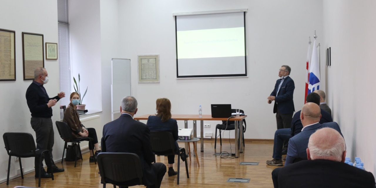 Discussion of the survey results at the Ministry of Foreign Affairs